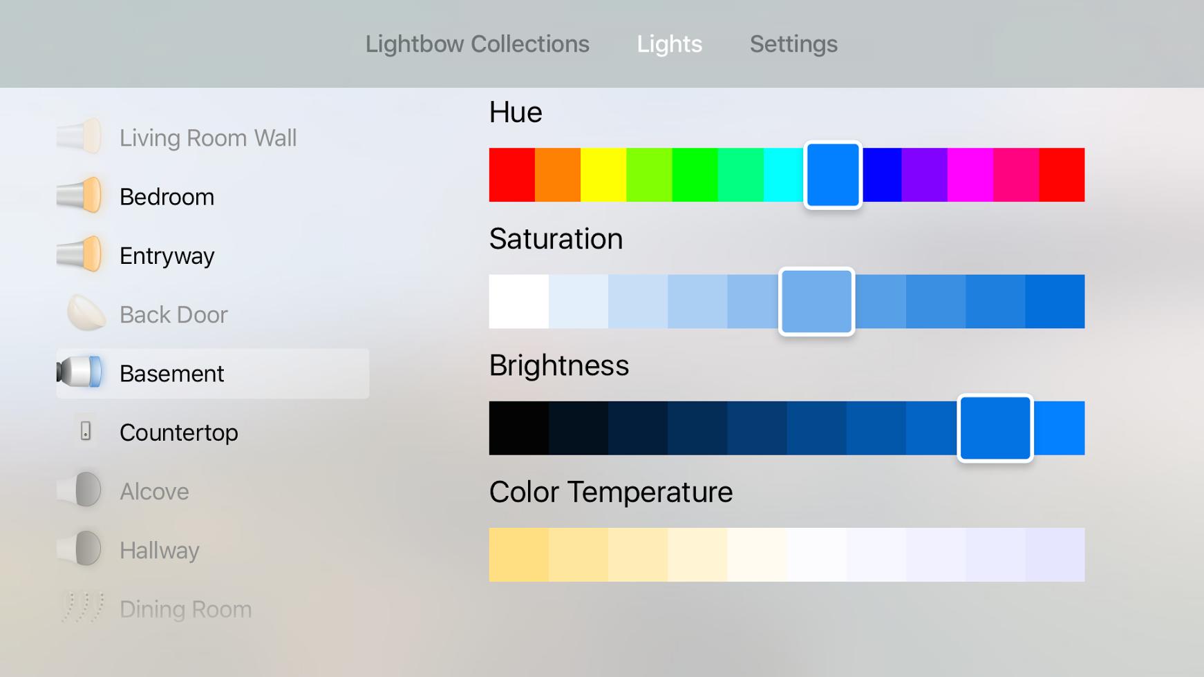 Lightbow TV Colors