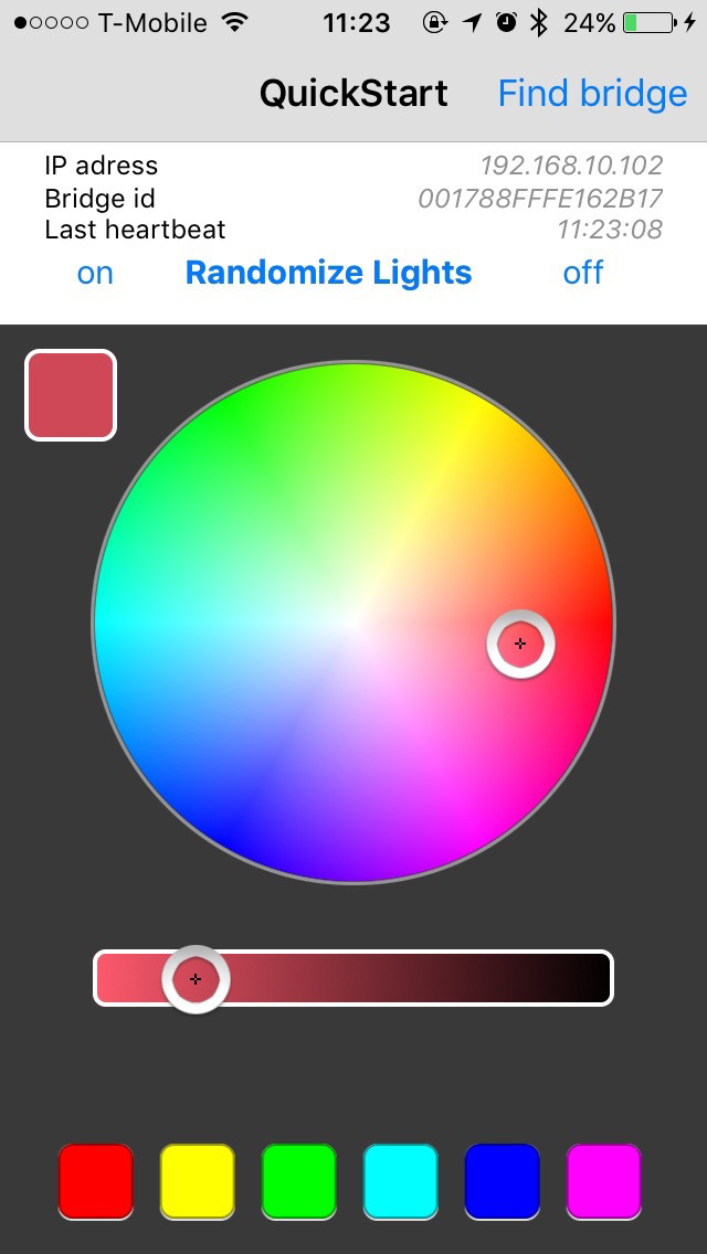 Hue Light Controller For Philips
